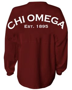 Chi Omega 1895 Spirit Jersey - Adam Block Design