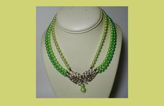 Lg Ornate Rhinestone Clasp 3 Strand Necklace by ItsNotAboutNeed, $28.00