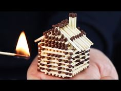 How to Make a Match House Without Glue and Burn it Down - YouTube