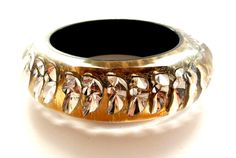 Crystal leaf wrap bangle - gold. Jewelry King, Gold Bangles, Class Ring, Jewellery, Crystals, Rings, Jewels, Schmuck, Ring