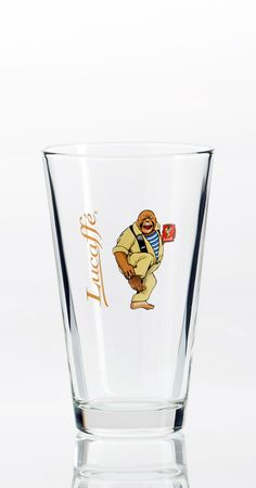 Lucaffé Latteglas Pint Glass, Beer, Glasses, Tableware, Eyewear, Ale, Dinnerware, Eyeglasses, Dishes