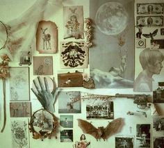 somewhere between collage + cabinet of curiosities - original drawing by Maggie Lochtenberg My New Room, My Room, Witch Room, Cabinet Of Curiosities, Aesthetic Room Decor, Etsy Vintage, Room Inspiration, Bedroom Decor, Bedroom Wall
