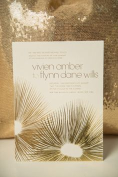 gold-firework-invitations - Once Wed Gold Invitations, Invites, Once Wed, Wedding Stationary, Invitation Design, Invitation Ideas, Gold Wedding, Wedding Designs, Real Weddings