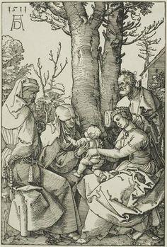La familia santa con Joaquín y Santa Ana, 1511