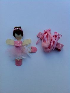 Dancing Ballerina Ribbon Sculpture Hair by SweetTangerineBoutiq, $6.00