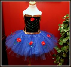 Anna Princess Dress Anna tutu dress Anna Frozen by Justforfuntutu