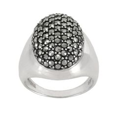 Sterling Silver Marcasite Pave Oval Dome Ring Size 7.  check discount today! click picture on top.