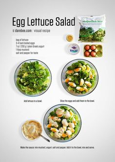 Egg and Lettuce Salad Recipe - MEAL B