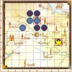 Rosenkönig spielen: Setze deine Ritter möglichst zusammenhängend, um ein großes Gebiet unter deiner Kontrolle zu haben. Mit Helden kannst du gegnerische Ritter schlagen, um Löcher in ihren Reihen zu schaffen, was sie Punkte kostet.