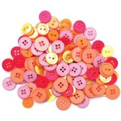 pink and orange buttons