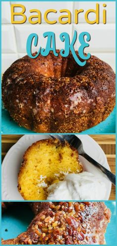 This Bacardi Rum Cake is so delicious and easy to prepare! It is perfect for a family dessert, ladies' luncheon, potluck dinner, or leftover breakfast Rum Recipes, Cake Recipes, Cooking Recipes, Bacardi Rum Cake, Bundt Cake Pan, Instant Pudding, Holiday Desserts, Sweet Tooth, Yummy Food