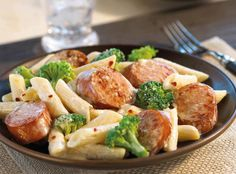 Slowly sauté Hillshire Farm® Smoked Sausage, pasta, broccoli, parmesan cheese and cream for this perfect comfort dinner.