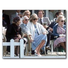 May 24, 1984: Princess Diana next to Madame Estee Lauder at a polo match at Smith's Lawn, Windsor.