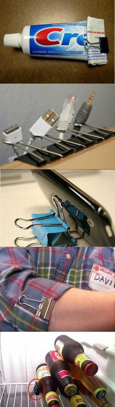 helpful tips with binder clips