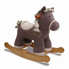 So cute! Bobble and Pip baby rocking horse from Little Bird Told Me
