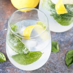 Send summer off in style with this refreshing and crisp Lemon Basil Gin &…