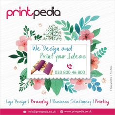 We Design and Print your Ideas. Call us today on 020 800 46 800.  #LogoDesign   #Branding   #BusinessStationery   #Printing   #LogoDesignAylesbury   #BrandingAylesbury   #London   #UK   #Leeds   #Watford   #Chesham   #Shoreditch   #Miltonkeynes   #Oxford   #BusinessStationeryAylesbury   #Bristol    www.printpedia.co.uk
