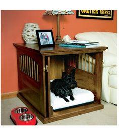 Ah! E se falando em madeira...: Casinha de cachorro na sala; projeto gratuito no blog