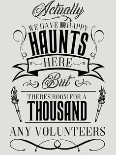 'Haunted Mansion-Happy Haunts' T-Shirt by Disney Home Decor, Disney Diy, Disney Crafts, Disney Love, Haunted Mansion Decor, Haunted Mansion Halloween, Haunted Mansion Tattoo, Haunted Mansion Disney, Haunted Mansion Wallpaper