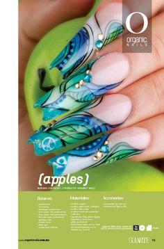 Mariana Contreras/ ProMaster Organic® Nails Nailart, Organic Nails, Edge Nails, Acrylic Gel, Ideas Geniales, Beautiful Nail Designs, Nail Shop, Stiletto Nails, Nail Artist