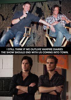 Slaying vampires since 2005... #supernatural   #SPN   #vampirediaries