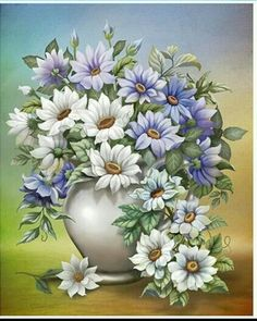 Painting Patterns, Fabric Painting, Painting & Drawing, Watercolor Paintings, Arte Floral, Flower Prints, Flower Art, China Painting, Flower Images