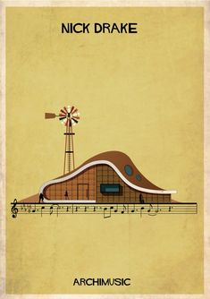 "ARCHIMUSIC: Illustrations Turn Music Into Architecture - Federico Babina / Nick Drake, ""River man"""