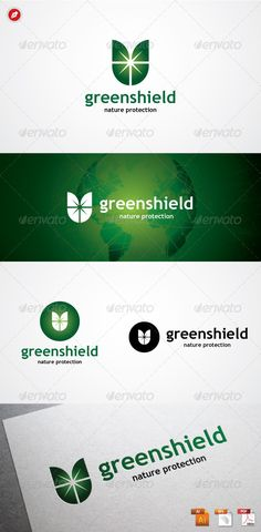 Green Shield Logo #GraphicRiver Green Shield Logo Green Shield, represented a strong and secure. The sunrays in the middle represented the energy and power. The green itself represented a renewable energy and good will. This logo highly made for any company/corporation related to Ecogreen, Energy, Media Hosting, Organic Product, Security, Software, Spyware, etc. Features : 100 % Vector (AI, EPS, PDF) Editable and Resizable CMYK color mode (for print and web purpose) Full Customizable Font…