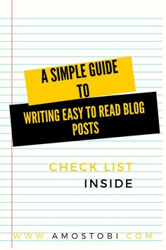 how to write easy to read blog post for your blog