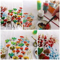 Art quilt surface design tutorial, hand painted surface, quilt tutorial, quilt making supply