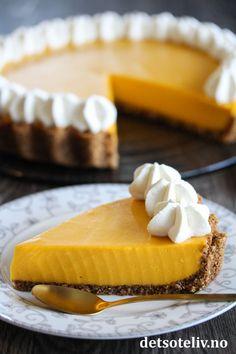 Mango-pai | Det søte liv Mango, Gelatin, Cheesecake, Keto, Baking, Desserts, Recipes, Food, Pai