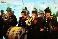 """BEATLES """"SGT. PEEPERS BAND PLAYING INSTRUMENTS"""" POSTER FROM ASIA - Classic Rock 