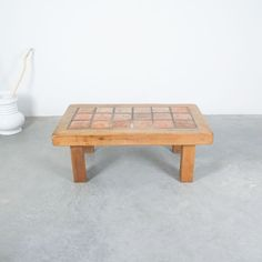 Terracotta Large Artisan Oak Coffee Or Outdoor Table, France, 1950 Outdoor Tables, Outdoor Decor, Tree Table, Oak Coffee Table, Mid Century Modern Design, Solid Oak, Midcentury Modern, Terracotta, Tiles