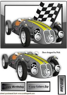 SILVER RACING SPORTS CAR IN GLASS FRAME on Craftsuprint - Add To Basket!