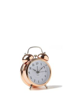 Always keep track of time, and never rely on your mobile phone alarm again with this cute rose gold alarm clock. <br> The perfect size for your bedside table or desk, it measures 8cm W x 12cm H, and even has a small light so you can check the time in the dark! <br/>