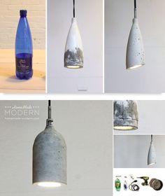Veldig kule lamper, kanskje jeg kan lage slike for og ha både på kjøkken og uteområdet.