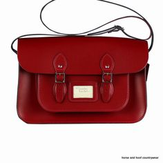 Traditional Handmade British Vintage Leather Satchel - Pillarbox Red Our 15-inch satchel is similar to the 14-inch in the sense that it is designed