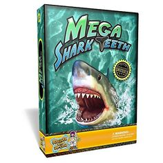 Mega Shark Teeth Kit  Includes 6 Megalodon Tooth Replica ** Visit the image link more details. (This is an affiliate link)