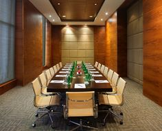 Narrow meeting room pull down blinds