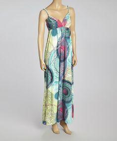 Look at this #zulilyfind! Blue & Yellow Geometric Sleeveless Maxi Dress - Women by Prime Garments #zulilyfinds