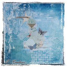 Maleri fra kurs med Vibeke Spigseth. :) Canvas painting, acrylics, decoupage, stencils etc used. :)