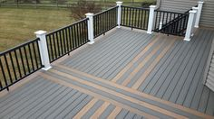 Diy Deck With Timbertech Composite Floor Walnut Grove And