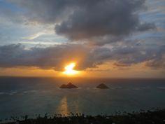 Lanakai Pillboxes sunrise hike - Oahu, Hawaii