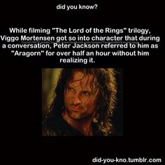 Wow. Viggo made the BEST Aragorn though. So thankful that their top 5 picks turned down the movie, and that Viggo's son was a huge fan of LOTR.