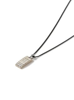 Black Tag Pendant Necklace* - Men's Jewellery & Watches - Shoes and Accessories - TOPMAN