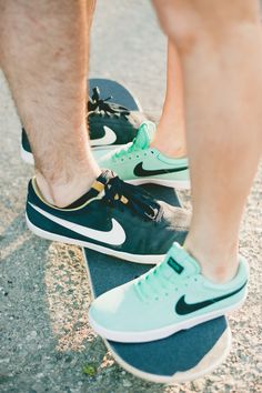Nikes | Read More: http://www.stylemepretty.com/little-black-book-blog/2014/08/27/italian-vespa-engagement-in-santa-barbara/ | Photography: Onelove Photography - onelove-photo.com