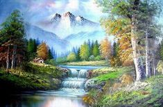 Картинки по запросу bob ross paintings