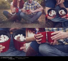 J. HALSTEAD PHOTOGRAPHY  www.facebook.com/jhalsteadphotography  hot chocolate couple marshmallows Christmas tree holiday love sun