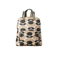 Orla Kiely - Backpack Tote - Oval Stem Print - Nude