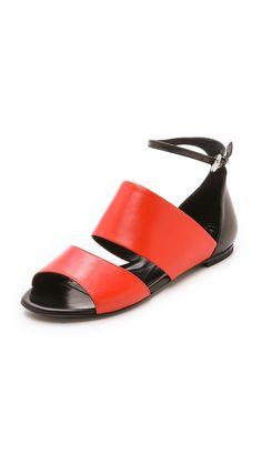 McQ - Alexander McQueen Erin Flat Strap #Sandals